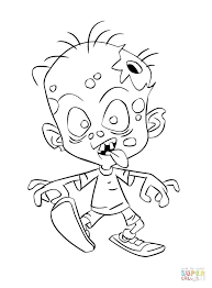 Zombie Coloring Page Plants Vs Zombies Coloring Pages Scary Zombie