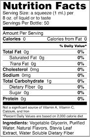 coconut sweet drops liquid stevia nutrition facts sweetleaf