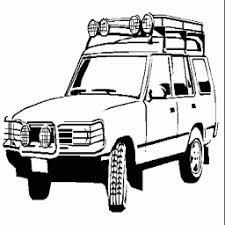 Kleurplaat Safari Jeep Kleurplaatarchiefnl