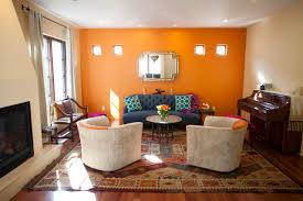 orange living room furniture. Merry Moroccan Room Orange With Paint Colors For Living Walls Dark Furniture