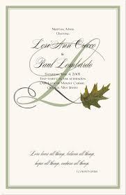 Fall Wedding Programs Autumn Theme Wedding Programs Fall Wedding