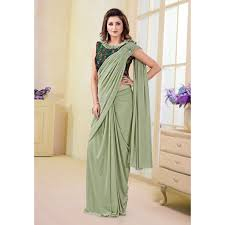 Designer Stitched Saree Latest Designer Fancy Readymade Saree Stylecaret Com