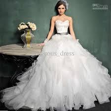 discount newest gorgeous princess wedding dresses floor length