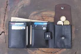 men s leather trifold wallet personalized leather wallet coin pocket wallet for men leather wallet