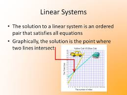 4 linear systems the solution