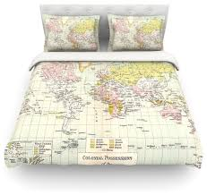 catherine holcombe travel world map duvet cover cotton queen contemporary duvet