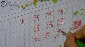Mẫu chữ và cách viết chữ K sáng tạo - Luyện chữ đẹp