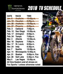 Supercross Seating Chart 2018 Oakland Supercross Tv Times Ama Points Schedule