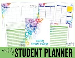 free school planner printables middle and high school planner printables for homeschool