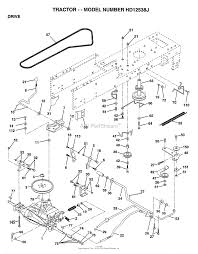 Ayp electrolux hd12538j 1999 parts diagram for drive