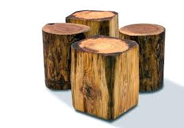 tree stump furniture four diffe size tree stumps side table deign in rectangle and round model tree stump