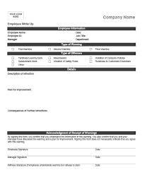23 Employee Write Up Form Free Download Word Pdf