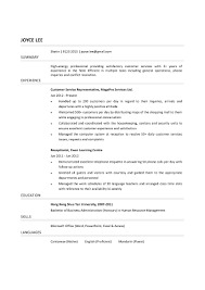 Resume Summary Statement Examples Customer Service For 17 Cool