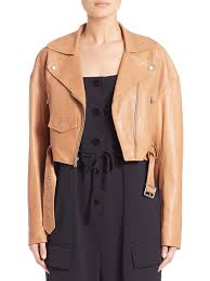 tibi cropped leather jacket w tags amazing marketable