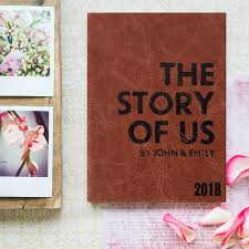 leather personalised wedding gift couples diary 2019