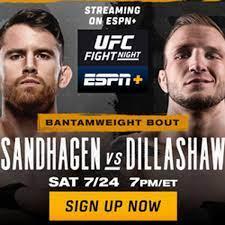 UFC Vegas 32: Sandhagen vs Dillashaw ...