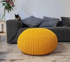 yellow pouf ottoman. Unique Pouf Image 0 Throughout Yellow Pouf Ottoman B