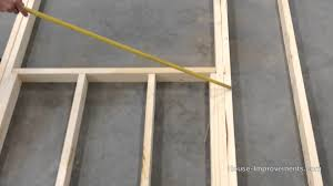 how to frame a garage doorHow To Frame a Window and Door Opening  YouTube
