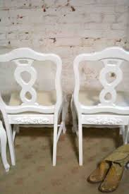 painted cottage chic shabby french dining chairs