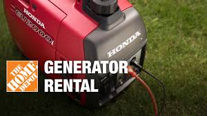 Generator Rental The Home Depot