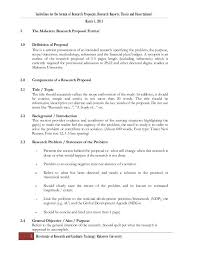 Research Proposal Template Amazing Research Proposal Thesis Format Ver 48 April 48