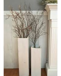 White Wooden Vases Reclaimed Wood Distressed Wood Floor Vases Set of Two  Farmhouse Decor Larg