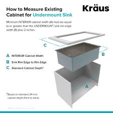 kraus khu100 30. KRAUS Standart PRO\u0026#8482; 30-inch 16 Gauge Undermount Single Bowl Stainless Steel Kraus Khu100 30 0
