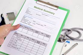 Personal Health Record Forms Personal Health Record Form On Clipboard In Doctors Hand