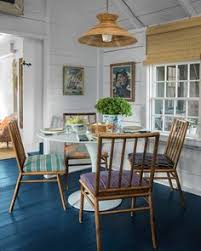 cote style dining area in a nantucket cote with rustic decor and colorful design e tour more nantucket style chic summer vibes