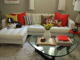 noguchi glass coffee table for small interior living room inspirations with l shaped leather sofa and wool rugs