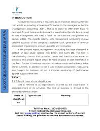 sample report on management accounting by experts 15 instantessaywriting com 3