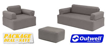 inflatable furniture. Outwell Inflatable Furniture Package Deal Sofa, Chair \u0026 Ottoman