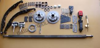 diy trailer kit 1 5tonne off road mechanical disc brake single axle kit