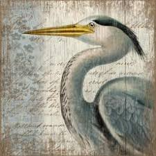 on white heron wall art with blue heron wall art