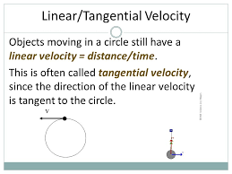 23 linear tangential velocity