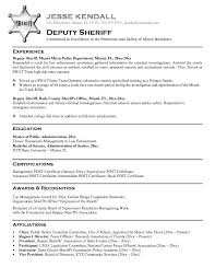 Law Enforcement Resume Template Law Enforcement Instructor Resume Sample  Deputy Sheriff Writing Download