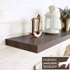 Dark Brown Floating Shelves