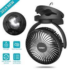 JOMST Portable Camping Fan LED Lantern, 4 ... - Amazon.com