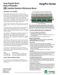 Transient Protection Design Tpd Amppro Series Installation Manual Manualzz Com