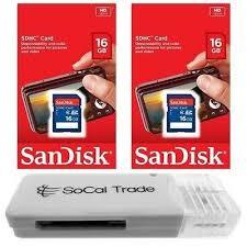 <b>5 PACK</b> - <b>Lot</b> of <b>5</b> SanDisk 16GB SD HC Class 4 SDHC Flash ...