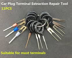 popular wire terminal removal tool buy cheap wire terminal removal 11 pcs auto car plug circuit board wire harness terminal extraction pick connector crimp pin back