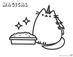 Pusheen Coloring Pages Magical Free Printable Coloring Pages