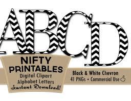 Printable Chevron Letters Black White Chevron Clip Art Alphabet Letters Black