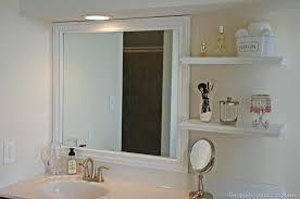 Bathroom Mirrors With Shelfframing A Bathroom Mirror Bathroom