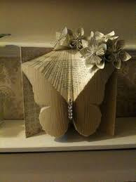 how to fold a book into a erfly book fold art