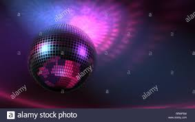 Rotating Disco Ball Light High Rez Raytraced 3d Rotating Disco Ball With Lights On