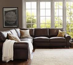 3 piece leather sectional. Exellent Leather Turner Roll Arm Leather 3Piece LShaped Sectional Throughout 3 Piece R