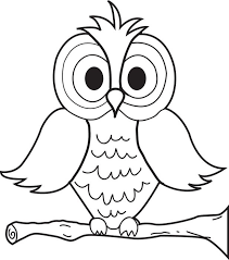 Small Picture Free Printable Cartoon Owl Coloring Page for Kids