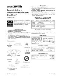 Dual Brite Motion Sensor Light Control De Luz Y Detector De Movimiento D Funcionamiento