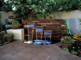 Small Picture Backyard Feature Wall Ideas Garden Design
